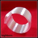 乳白色の白い螺旋形の石英ガラスのガラス管