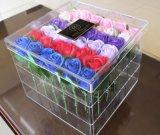 주문 고품질 플라스틱 아크릴 꽃 포장 상자