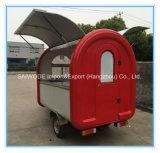 Carrello dell'alimento della piccola via elettrica della Cina/camion dell'alimento/rimorchio mobili dell'alimento da vendere