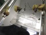 Fashion&#160 ; Boucle d'oreille simple de couleur d'argent de type de bijou de Birdcage cuivreux pendant d'hameçon