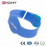Rfidhy TT2048 Chip NFC da Pulseira de PVC para Water Park