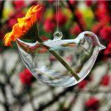 Vaso di vetro d'attaccatura per la decorazione di cerimonia nuziale con la corda