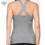 Breathable Sport-Abnützung-Gymnastik-Unterhemd-Sleeveless athletische Getreide-Oberseite