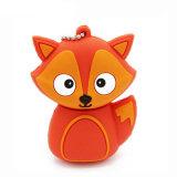 Подарок ручки памяти милого привода пер Fox сыча пингвина животный