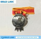Le métal ouvre le médaillon courant fait sur commande de module de finition de chemin de marathon de médaille