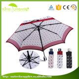 Parapluie blanc promotionnel de crabot de parapluie fait sur commande de qualité