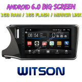 """Witson gran pantalla de 10,2"""" de Android 6.0 alquiler de DVD para Honda City 2014 (Izquierda Driver)"""