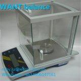0.1mg 0.001g LCDのジスプレー体および電池の供給の精密天秤