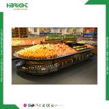 Supermarkt-Metallobst- und gemüse-Bildschirmanzeige-Regal-Zahnstange
