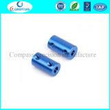 Coupleur/couplage rigides personnalisés d'arbre de couleur bleue en aluminium pour le connecteur de moteur
