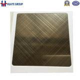 Plaque décorative colorée de feuille d'acier inoxydable de délié de croix de qualité de Foshan