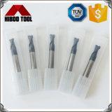Cortadores de trituração redondos longos do fim do nariz HRC60 com 2 flautas