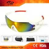 Aviator Disponível polarizada de vento, Andar de bicicleta andar de óculos de sol com 5 lentes para homens