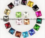 Het Bergkristal van de manier naait binnen bij het Plaatsen voor de Toebehoren van het Kledingstuk (SW-square/8*8mm)