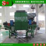 낭비 또는 작은 조각 또는 사용된 타이어 재생하는 50-150mm 고무 칩 두 배 샤프트 슈레더를 만들기