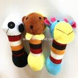 Van een hond de panda-beer-Giraf van het Product van de Beet Stuk speelgoed van de Pluche van het Speelgoed van het Huisdier het Hond Gevulde