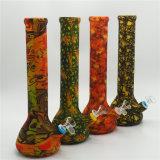 創造的な印刷のビーカーの形ガラス水煙る管のシリコーンの煙る管