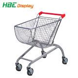 Супермаркет оборудование 80L металлические торговых тележек тележки