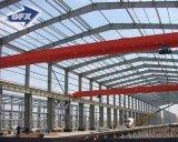 Magazzino prefabbricato costruito Peb chiaro della struttura d'acciaio delle costruzioni di blocco per grafici