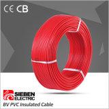 Single Core isolés en PVC avec câble électrique conducteur en cuivre massif