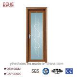 Самомоднейшая алюминиевая стеклянная дверь стекла листьев двойника конструкции двери