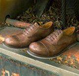 Estilo Negro Brogue Goodyear Mens Zapatos Zapatos de la correa de monje