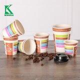 10 Oz Una sola pared papel desechable taza de café caliente