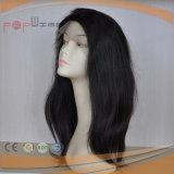 El cabello humano encaje peluca Wefted frontal posterior (PPG-L-01343)