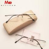 Gafas de lectura de acero inoxidable aleación Taitanium Rimless anteojos sin MOQ Caída Libre Envío