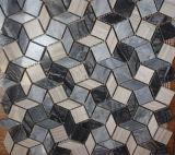 Mármol del azulejo de la pared de la piedra 300X300m m del mosaico del diseño del Rhombus