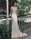 Длинные втулки устраивающих свадьбу в саду на пляже платья Gowns W14822