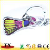 Anunciando o Badminton Shuttlecock Keychain do Keyring do metal para presentes