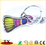 Metal publicidade Keyring Badminton Peteca Chaveiro para presentes