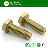 真鍮の銅の完全な糸の六角形の十六進ボルト(DIN933)