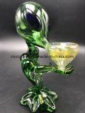 Mini tubos de agua de cristal extranjeros verdes de los tubos que fuman