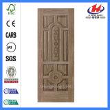 Piel moldeada madera natural de la puerta de la fábrica de la chapa de HDF/MDF (JHK-018)