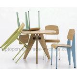 Стул классицистического места переклейки ноги металла мебели стандартный обедая (SP-BC336)