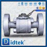 Didtek llena la cavidad de cuerpo sólido de 3 piezas de bola válvula de bola flotante