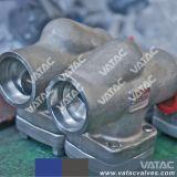 NPT de parafuso/pc/SW de aço forjado A105 Válvula de Giro
