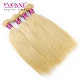 Peruanische menschliche Jungfrau-Haar-Webart-natürliche gerade Farben-blondes Haar