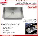 Radio Cero rectangular personalizada Cocina Industrial Artesanal de acero inoxidable fregadero con Cupc