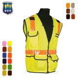 Het hoge Vest van de Veiligheid van Workwear van de Douane van het Zicht Weerspiegelende