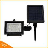 Indicatore luminoso di inondazione solare esterno dei 30 LED per il paesaggio del prato inglese del giardino