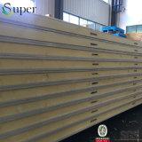 Панель сандвича пены PU холодильных установок изолированная жарой стальная