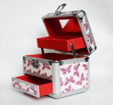 Алюминиевый сплав косметический украшения контейнер для хранения с выдвижной ящик