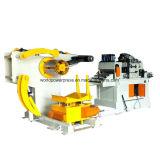 Alimentador automático de chapa metálica con enderezadora y desenrolladora