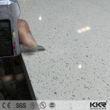 da pedra artificial de quartzo de 3cm laje branca da bancada de Carrara
