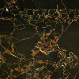 중국 높이 Polished 까만 대리석 까만 황금 꽃 대리석