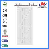 Agitador de madera maciza de pino compuesto de cristal de la puerta del granero (JHK-SK11).