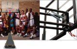 Im Freien beweglicher und justierbarer Basketball steht für Erwachsenen